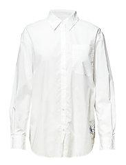 OVERSIZED POPLIN SHIRT - BRIGHT WHITE