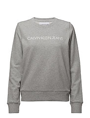 INSTITUTIONAL LOGO SWEATSHIRT - LIGHT GREY HEATHER