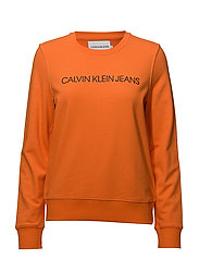 INSTITUTIONAL LOGO SWEATSHIRT - ORANGE TIGER 16-1358 TCX