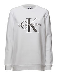 MONOGRAM LOGO SWEATSHIRT - BRIGHT WHITE