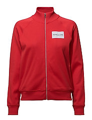 ZIP UP TRACK JACKET - TOMATO