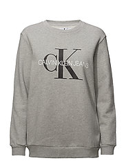 CORE MONOGRAM - LIGHT GREY HEATHER