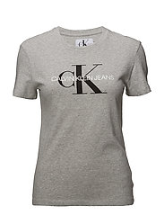 CORE MONOGRAM LOGO REGULAR FIT TEE - LIGHT GREY HEATHER