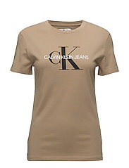 MONOGRAM LOGO REGULAR FIT TEE - TANNIN