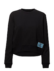 MONOGRAM LOGO BADGE SWEATSHIRT - CK BLACK