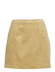 CORDUROY MINI SKIRT - TANNIN