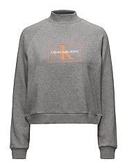 OUTLINE MONOGRAM REL - MID GREY HEATHER