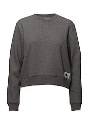 MONOGRAM BADGE RELAX - MID GREY HEATHER