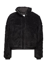 POLAR FLEECE PUFFER - CK BLACK