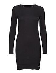 STRIPED RIB DRESS, 9 - CK BLACK