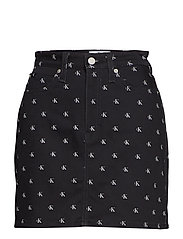 HIGH RISE SKIRT - BLACK MONOGRAM
