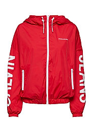 NYLON WINDBREAKER - RACING RED / LOGO