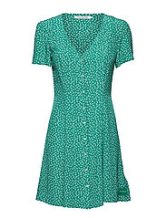 SS BUTTON V NECK FLA - DAISY FLORAL AOP JOLLY GREEN E
