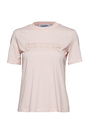 PEARLIZED MULTI CALVIN TEE - STRAWBERRY CREAM