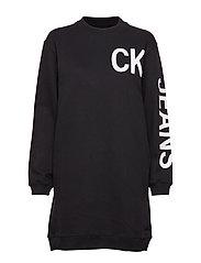Ck Jeans Logo Knit D Langermet Genser Svart CALVIN KLEIN JEANS