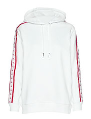 MONOGRAM TAPE HOODIE - BRIGHT WHITE
