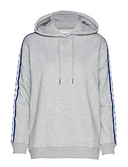 MONOGRAM TAPE HOODIE - LIGHT GREY HEATHER