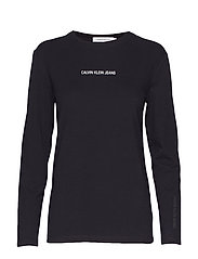 INST LOGO STRETCH LS - CK BLACK