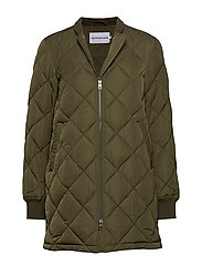 LW QUILTED JACKET, 3 - GRAPE LEAF