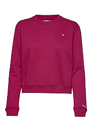 BOXY CREW NECK - BEET RED