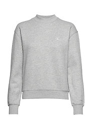 CK EMBROIDERY REGULAR CREW NECK - LIGHT GREY HEATHER