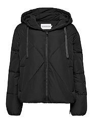 QUILTED PUFFER JACKET - CK BLACK