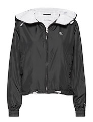 POP COLOUR UNPADDED WINDBREAKER - CK BLACK/BRIGHT WHITE