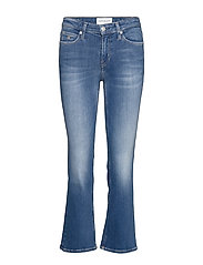 MID RISE CROP FLARE - CA093 MID BLUE