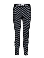 AOP MILANO LEGGINGS - CK50 AOP BLACK/ WHITE LOGO
