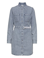 RELAXED SHIRT DRESS BELT - AB078 ICN LIGHT BLUE BELT