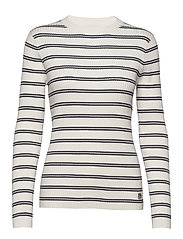 STRIPE RIB SWEATER - CREAMY WHITE