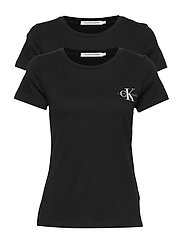 2 PACK SLIM T-SHIRT - CK BLACK / CK BLACK