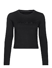 SHINY INST LS CROP TEE - CK BLACK