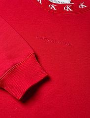 Calvin Klein Jeans - CK LOGO TRIM NECK CN - sweatshirts - red hot - 2
