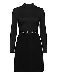 LOGO ELASTIC DRESS - CK BLACK