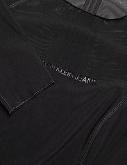 Calvin Klein Jeans - BODY-CON MESH DOUBLE LAYER DRESS - korte kjoler - ck black - 2