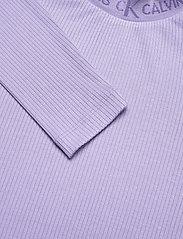 Calvin Klein Jeans - LOGO TRIM RIB LONG SLEEVES - langermede topper - palma lilac - 2