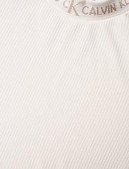 Calvin Klein Jeans - LOGO TRIM RIB LONG SLEEVES - langermede topper - white sand - 2