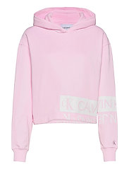 MIRRORED LOGO HOODIE - PEARLY PINK / BRIGHT WHITE