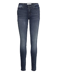 MID RISE SKINNY - DENIM DARK