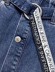 Calvin Klein Jeans - HIGH RISE MIDI SKIRT - denimskjørt - denim dark - 4