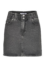 HIGH RISE MINI SKIRT - DENIM GREY