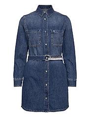 RELAXED SHIRT DRESS - DENIM DARK
