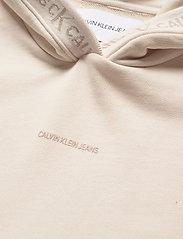 Calvin Klein Jeans - LOGO TRIM HOODIE - gensere og hettegensere - white sand - 2