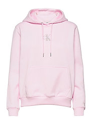 MONOGRAM LOGO HOODIE - PEARLY PINK/QUIET GREY
