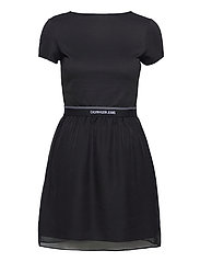 LOGO WAISTBAND DRESS - CK BLACK