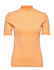 MICRO BRANDING STRETCH MOCK NECK - CRUSHED ORANGE