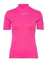 MICRO BRANDING STRETCH MOCK NECK - PARTY PINK
