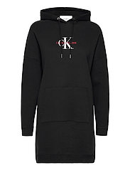 MONOGRAM HOODIE DRESS - CK BLACK
