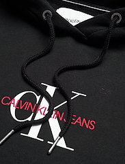 Calvin Klein Jeans - MONOGRAM HOODIE DRESS - hverdagskjoler - ck black - 2